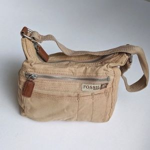 Fossil Voyages Map Lined Canvas Bag
